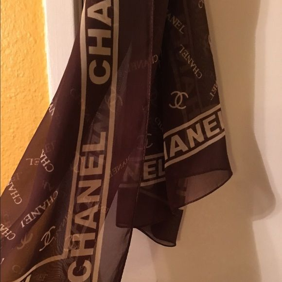 Chanel scarf Chanel scarf brown with cream color very beautiful  Chanel Other