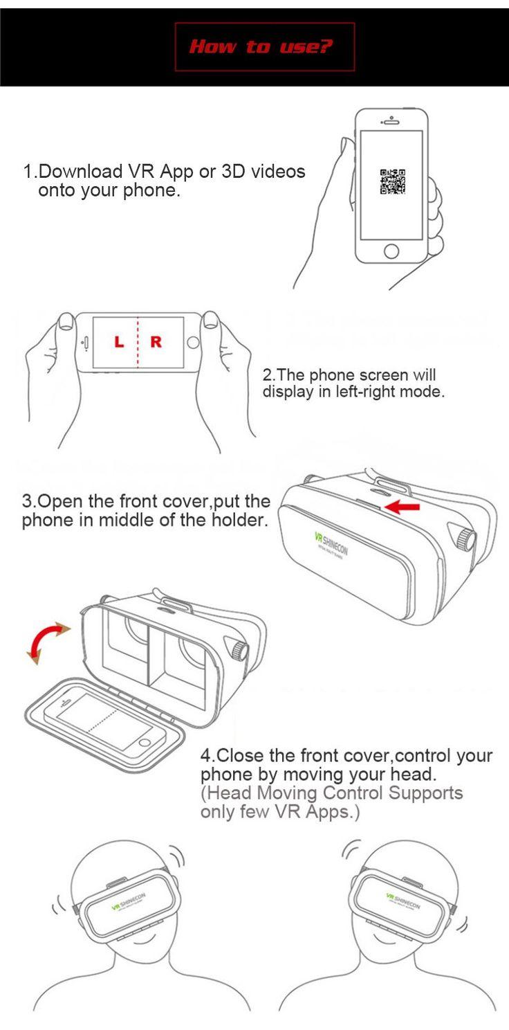 VR Shinecon 3D Virtual Reality Glasses Head Mount