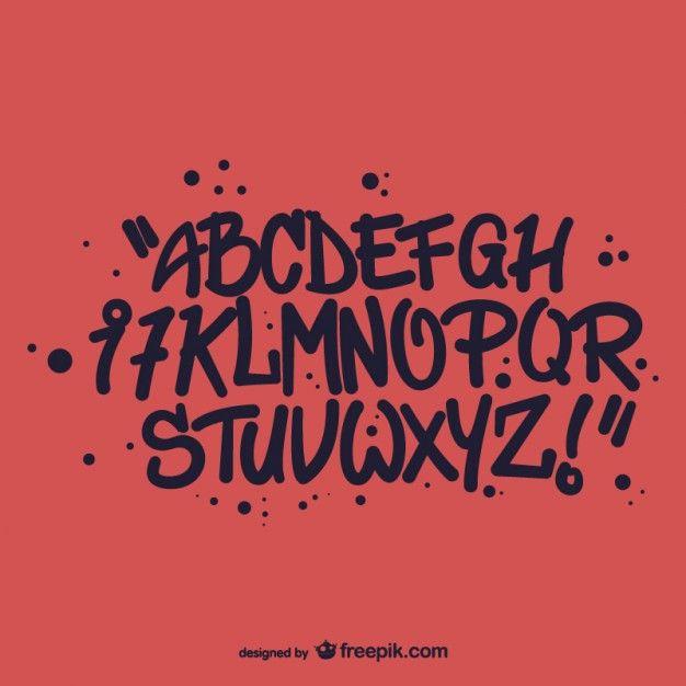 Letras do alfabeto do estilo de graffiti                                                                                                                                                                                 Mais