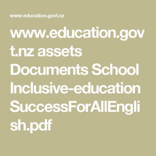 www.education.govt.nz assets Documents School Inclusive-education SuccessForAllEnglish.pdf