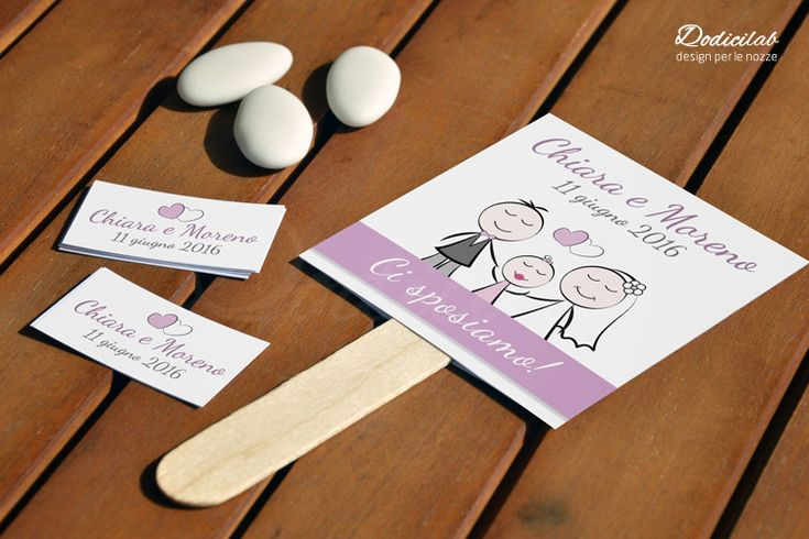 cartellino di annuncio matrimonio personalizzato