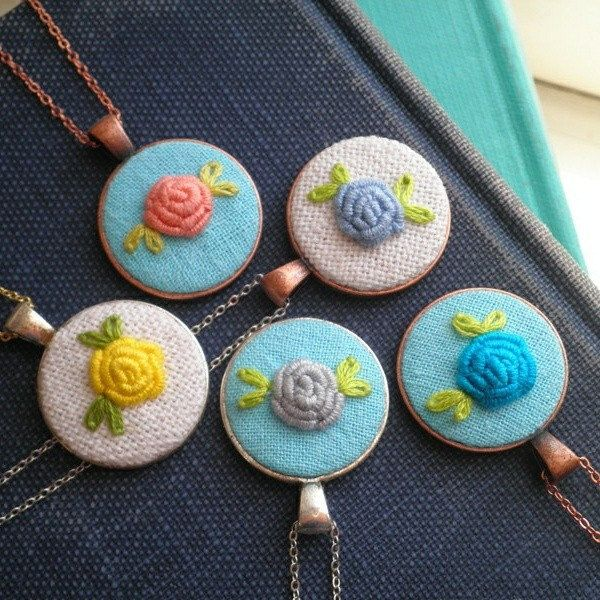Simple, sweet rose pendants are always in fashion.