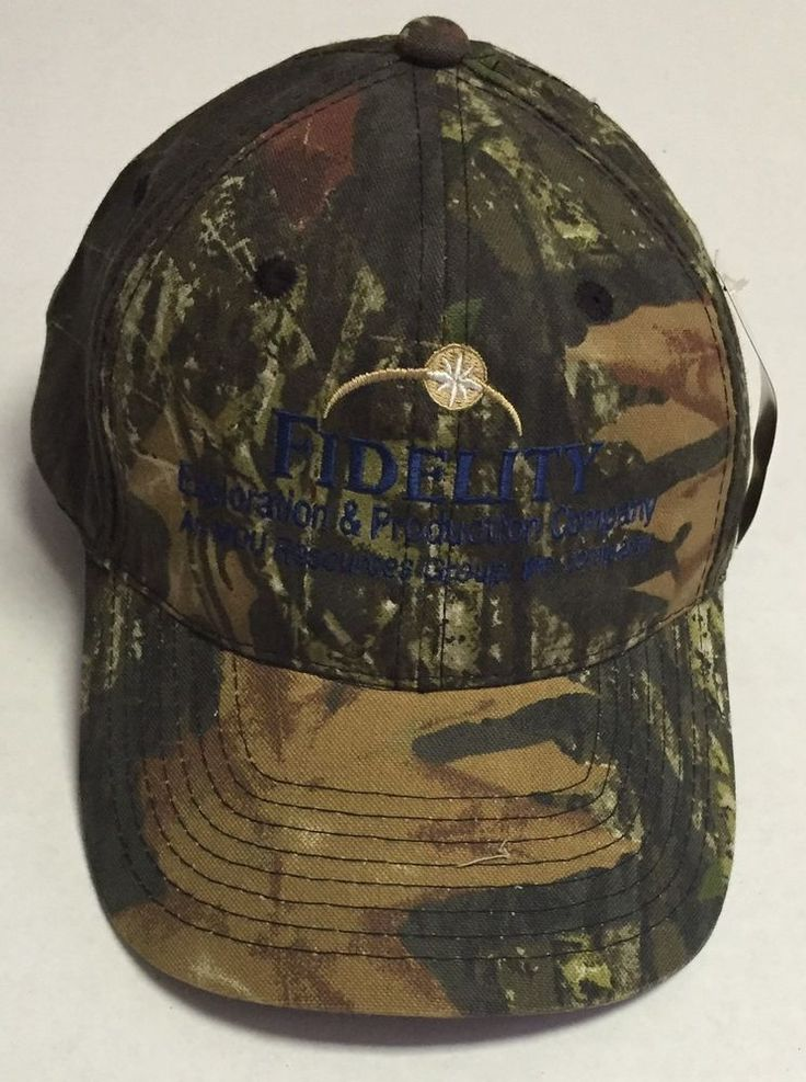 Fidelity Hat Mossy Oak Baseball Cap Oil Oilfield Hunting Denver CO MDU Resources | Clothing, Shoes & Accessories, Men's Accessories, Hats | eBay!