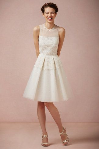 Pinpearl Dress from BHLDN.  Perfect for rehearsal dinner!  Looks a lot like my grandma's wedding dress.
