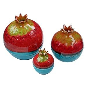 Pomegranates~Decorative Ceramic Pomegranates