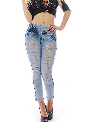 nice FARINA®1631 Damen Jeans Hose zaerrissene Loch-lose gerade Denim-Hosen gebrochen Beggar Jeans (XL/42-44, Blau) Check more at https://designermode.ml/shop/77028031-bekleidung/farina1631-damen-jeans-hose-zaerrissene-loch-lose-gerade-denim-hosen-gebrochen-beggar-jeans-xl-42-44-blau/