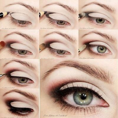 The magic triangle.Day Makeup, Make Up, Beautiful, Eyeshadows, Eyemakeup, Eye Liner, Smokey Eye, Green Eye, Eye Makeup Tutorials