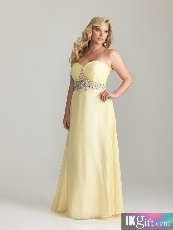 WOW!! Mellow Yellow!! Prom Plus Size Dress