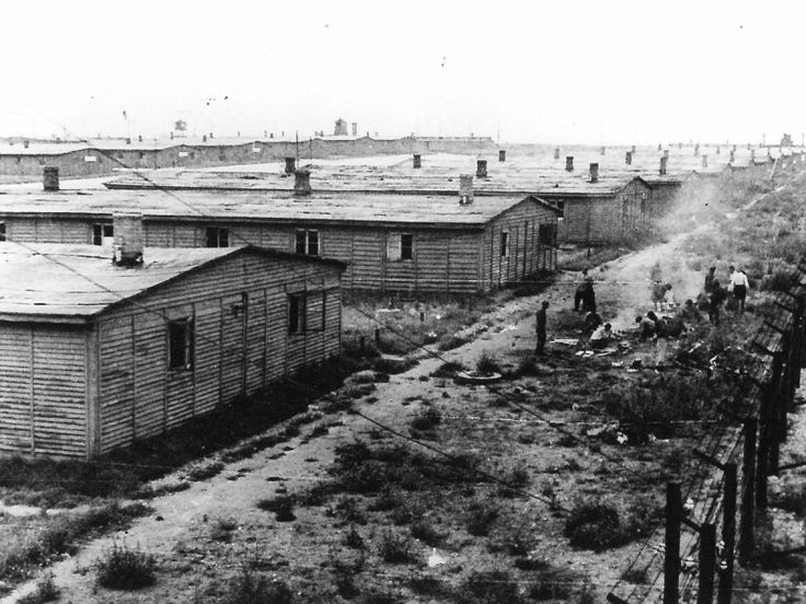 Barracks of the concentration camp Majdanek after the liberation by Soviet troops. World War Two