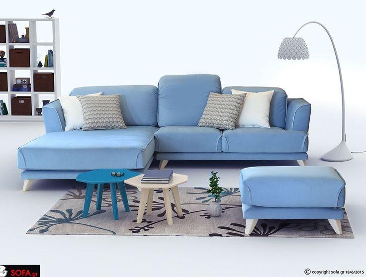 Γωνιακός καναπές Lov με ανάκλιση http://www.sofa.gr/goniakos-kanapes-love