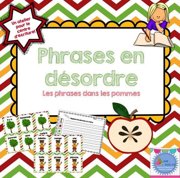 FRENCH {Apples} scrambled sentences/Phrases en désordre {Les pommes}