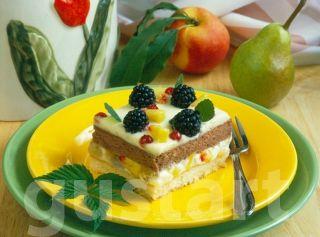 Lajos Mari konyhája - Gyümölcsös- krémes kocka