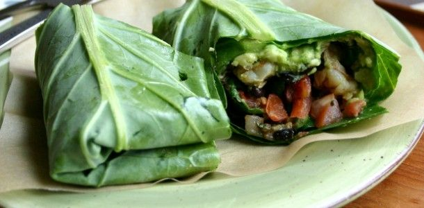 Shrimp + Beans in Greens Burritos - what a great idea!  I can't wait to try it!