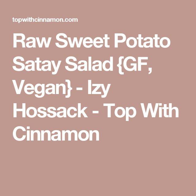Raw Sweet Potato Satay Salad {GF, Vegan} - Izy Hossack - Top With Cinnamon