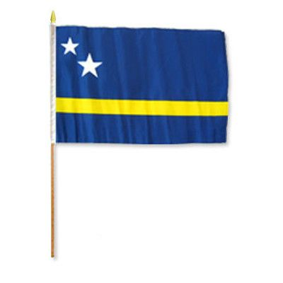 FlagsImporter Curacao Traditional Flag and Flagpole Set