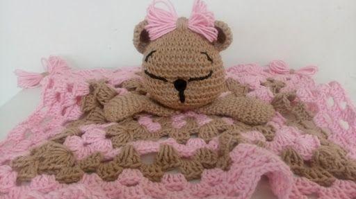 Naninha de urso amigurumi (manta de apego) - YouTube | 287x512
