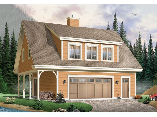 027G 0006  Country Style Garage Apartment Plan Offers 2 Bedrooms. 28 best Country Style Garage Plans images on Pinterest   Car