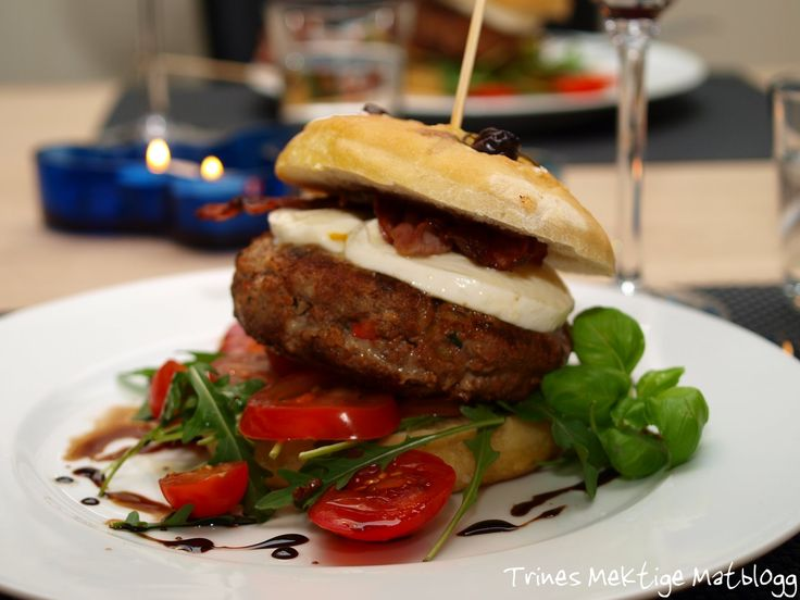 Hamburger med italienske smaker - TRINEs MATBLOGG