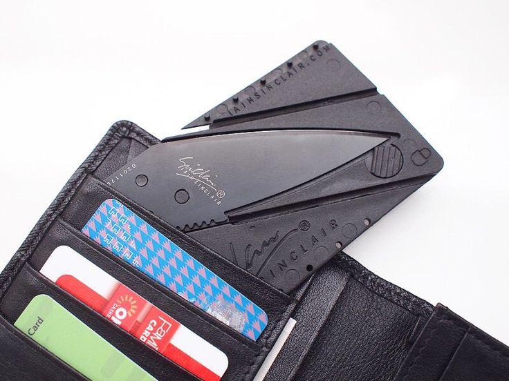 지갑 안에 숨겨둔 비상용 칼 '카드샤프 접이식 카드 나이프'  #칼 #나이프 #서바이벌