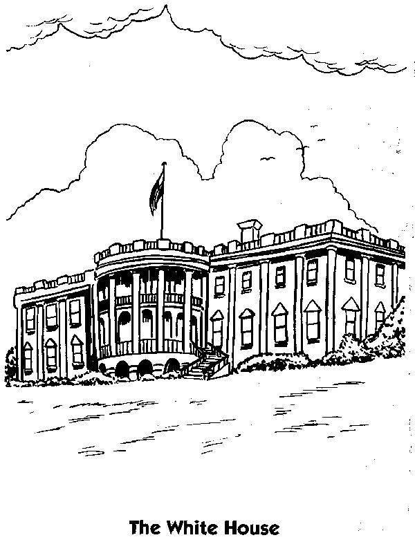 94 Best Coloring Pages Images On Pinterest Coloring Pages For - white house coloring page