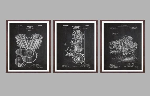 Harley Davidson Posters Set of 3 - motorcycle flywheel - Harley Clutch - Harley Davidson Motorcycle - Harley Engine - Motorcycle, by STANLEYprintHOUSE  7.50 USD  We use only top quality archival inks and heavyweight matte fine art papers and high end printers to produce a stunning quality print that's made to last.  Any of these posters will make a great affordable gift, or tie any room together.  Please choose between different sizes and col ..  https://www.etsy.com/ca/listing/493..