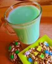 St. Patricks Day! :) Put a drop of green food coloring in a glass before your child knows.  Add milk in front of them and they will surely thing the leprechauns have made a visit.  Lot of other cute things for kids too!
