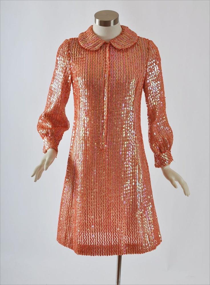 1960's Mod Sequin Mini Dress
