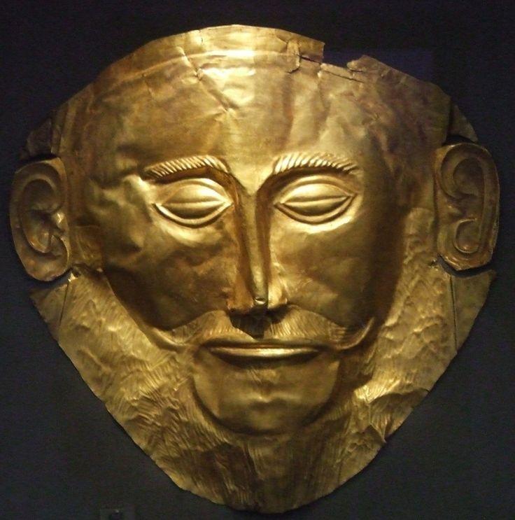 La Máscara de Agamenón es un objeto arqueológico descubierto en la acrópolis de Micenas en 1876 por el arqueólogo prusiano Heinrich Schliemann, pertenece a la epoca del arte micenico (periodo prehelenico).