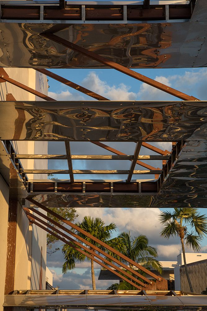 Innovative shade canopies. Palm Court, Miami Design District. Master architect: SB Architects. Photograph by Robin Hill.
