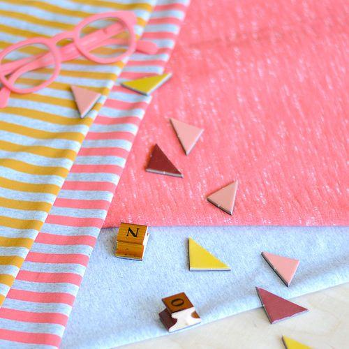 Loopback Sweatshirting, Coral | NOSH Autumn & Winter 2016 Fabric Collection is now available at en.nosh.fi | NOSH syksyn 2016 uutuuskankaat saatavilla verkosta nosh.fi