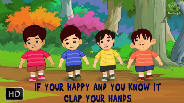If You Happy and You Know It Clap Your Hands Song with Lyrics