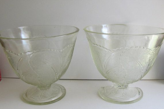 2 Antique Victorian Punch Bowl Sets Glass Punch by ReVintageLannie