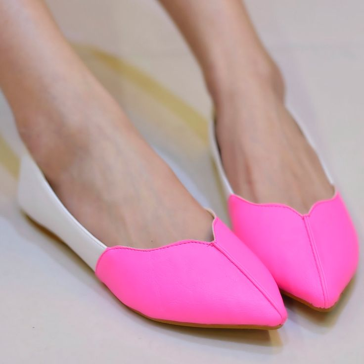 shoes - http://zzkko.com/n191748-013-new-candy-colored-shoes-women-shoes-shallow-mouth-sweet-lace-color-stitching-Korean-flat-with-flat-shoes.html $14.85