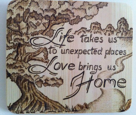Wood burning home decor-Wall hanging-Wood board by CraftGalery