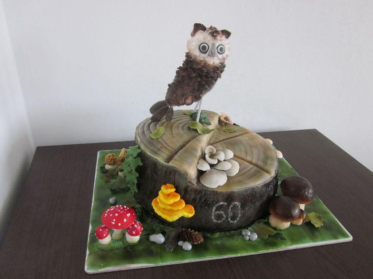 With mushrooms cake