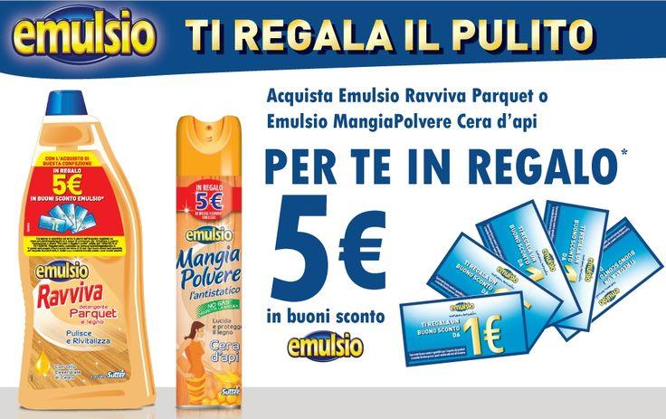 Emulsio ti regala il pulito: 5€ in buoni sconto