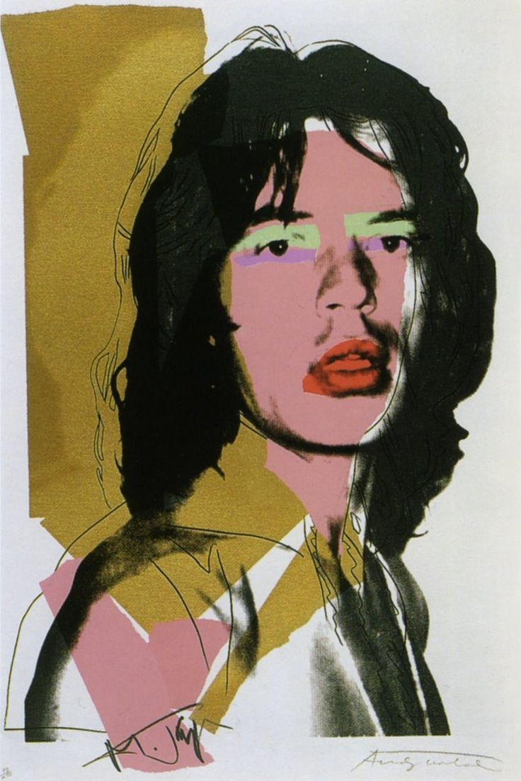Mick Jagger portrait by Andy Warhol, MOMA