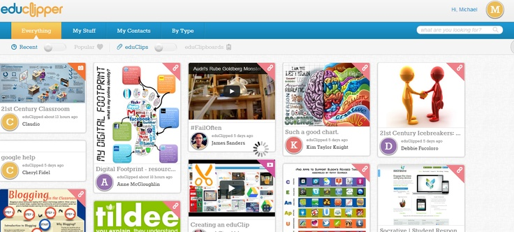 EduClipper: risorse didattiche in stile Pinterest
