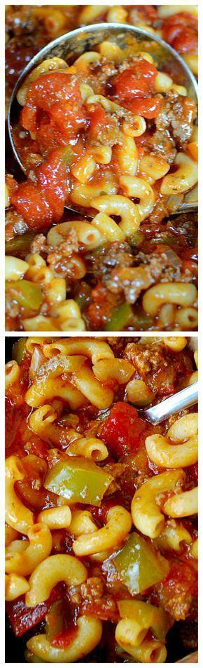 Nana's American Chop Suey ~ It tastes incredible!