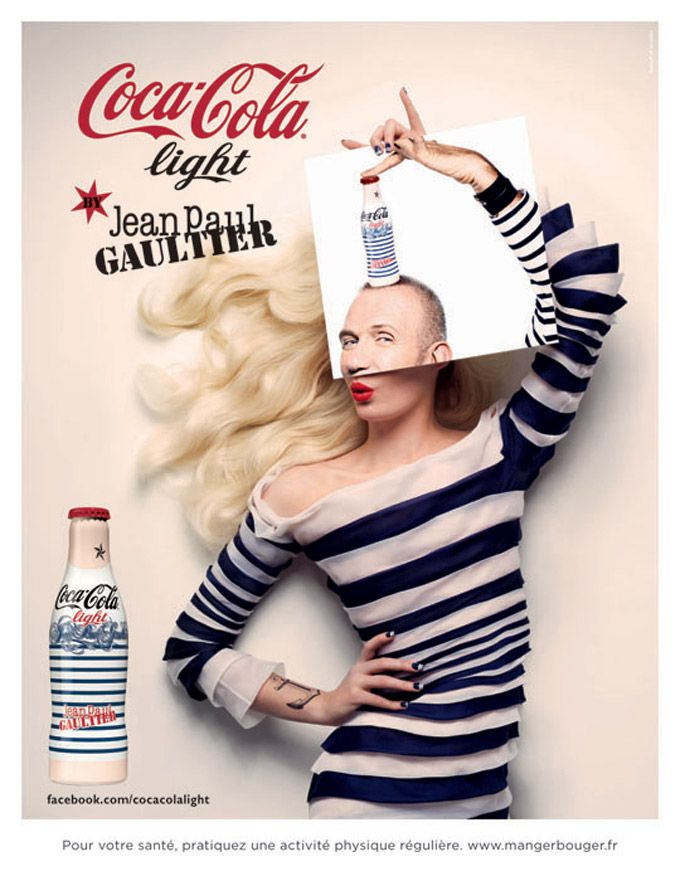 Pub Coca-Cola Light : design par Jean-Paul Gaultier