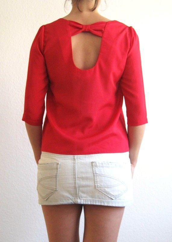 Schöne Bluse in rot