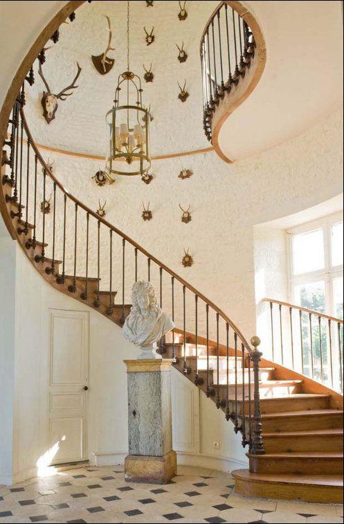Foussais Payré, France · Grand StaircaseCurved ...