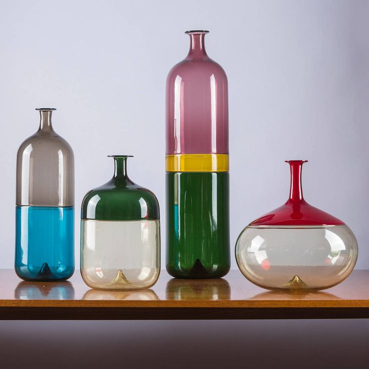 "Compasso / Rare Set of Four ""Bolle"" Vases by Tapio Wirkkala for Venini"