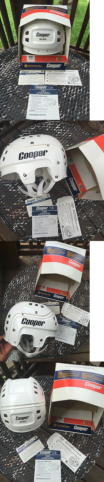 Helmets 20854: Vintage Cooper Sk600 Hockey Helmet W Box And Paperwork Unused Old Collector Helmet -> BUY IT NOW ONLY: $249.99 on eBay!