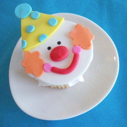 clown cupcake topper