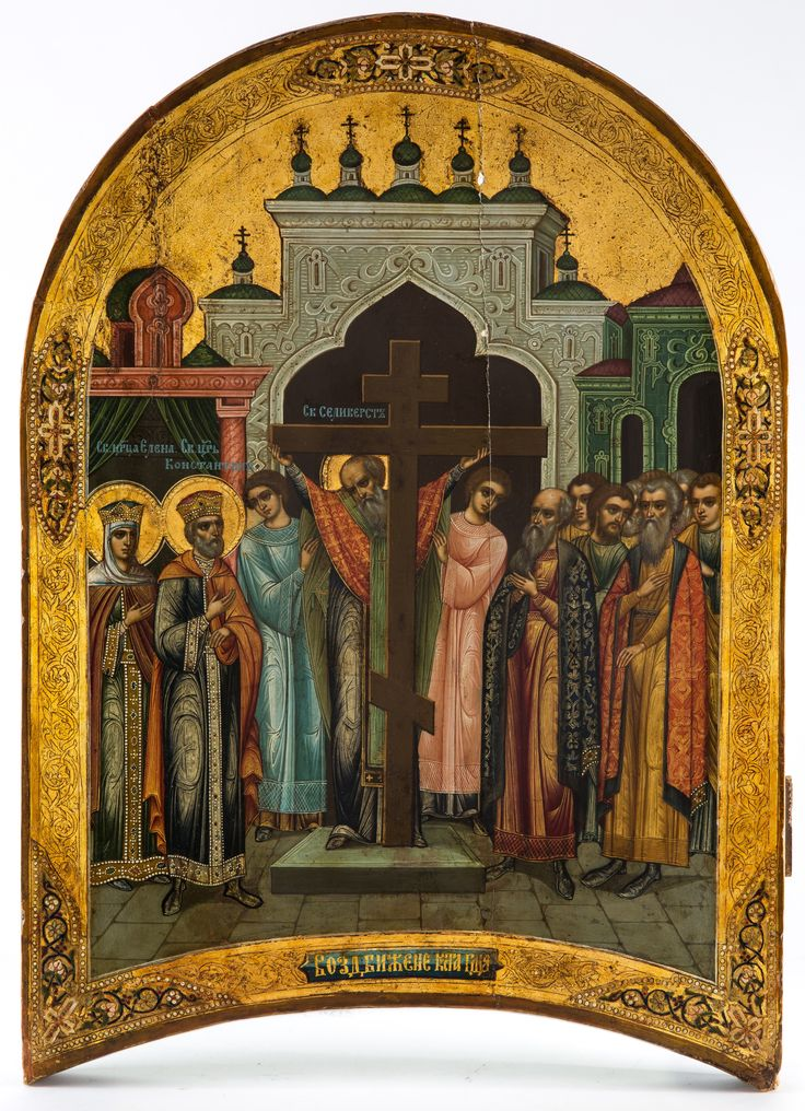A RUSSIAN ICON OF THE EXALTATION OF THE CROSS, PALEKH, 19TH CENTURY - Upcoming Auctions