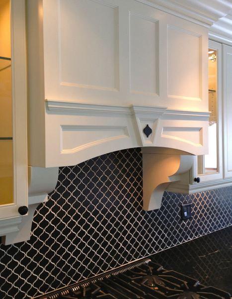 tessen black ceramic arabesque tile - Arabesque Tile Backsplash