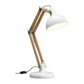 Houten bureaulamp Work Station G