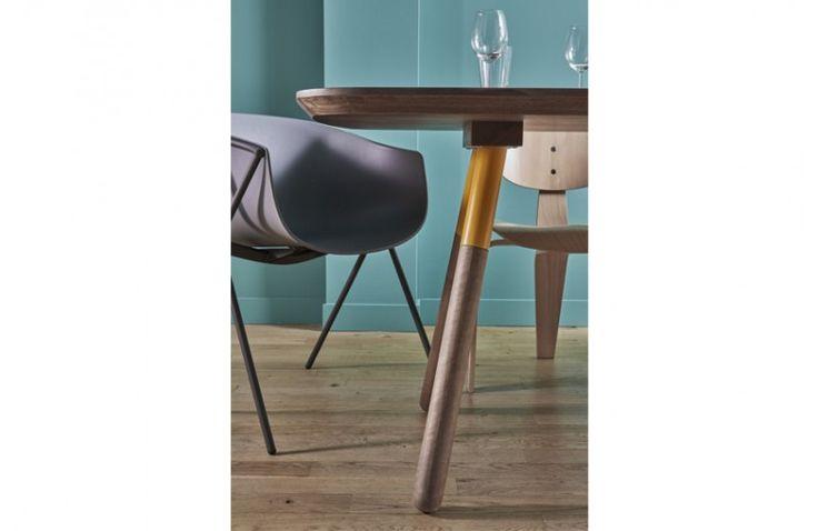 Table de Repas Rectangulaire Hola - 180 à 220 cm - Design Decode - focus pied