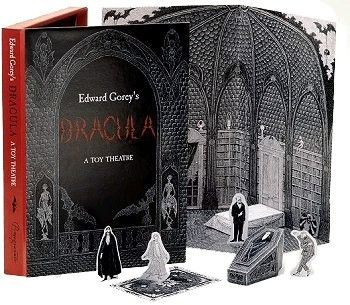 Edward Gorey's Dracula Toy Theater - on sale for $20 - http://www.goreydetails.net/shop/index.php?main_page=product_info&cPath=48&products_id=5568&zenid=gsp7qhnluq8b1m0vpikeg4v2s1Die Cut, Toys Theater, Toys Theatres, Book Worth, Gorey Dracula, Edward Gorey, Dracula Toys, Paper Theater, Paper Toys